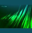 Green aurora polar light abstract vector image vector image
