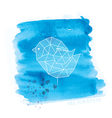 watercolor and geometry bird vector image vector image