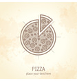 pizza draft vector image vector image