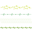 set of dividing lines vector image vector image