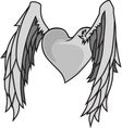Heart n Wings vector image vector image
