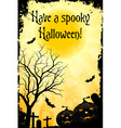 Abstract Halloween Card vector image vector image