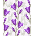 bluebells - seamless pattern vector image