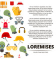 colorful flat personal protective equipment icons vector image