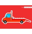 Evacuator truck isolated vector image