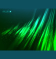Green aurora polar light abstract vector image