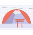 Japanese gate Japanese mountain Symbol of Japan vector image