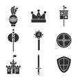 Knights icons set vector image