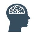 Peronal IQ - head with brain intelligence vector image