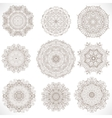 Set Mandalas Round Ornament Pattern vector image