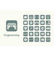 Set of programming simple icons vector image