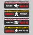 warning tape with skulls vector image