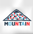 Mountain Blocks vector image vector image