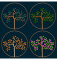 Seasonal trees vector image vector image