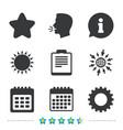 calendar and star signs checklist gear vector image