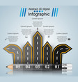 road 3d digital infographic pencil vector image