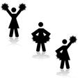 Cheerleaders vector image vector image