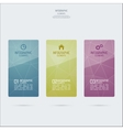Template design colored glass Infographics vector image