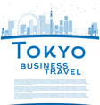 Outline Tokyo skyline vector image