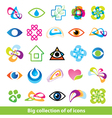 big collection of icons vector image vector image