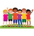 Group of children friends vector image vector image