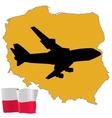 fly me to the Poland vector image