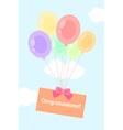 balloon sky vector image