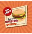 cartoon fast food design design vector image