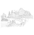city sketching on white background amsterdam vector image