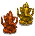 Figurines of the indian deity of ganesha vector image