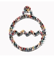 group people shape toy Christmas tree vector image