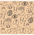 Human organs pattern vector image