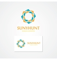 logo with abstract sun vector image