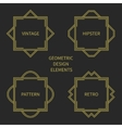 Set of line retro gold frame 1920 style vector image