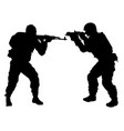 Silhouette of people with arms vector image