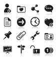 Website navigation icons set vector image