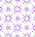White vertical pointy squares with purple layering vector image