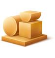 Woodworks wooden workpieces vector image