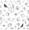 Seamless pattern for Halloween on white background vector image