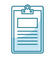 clipboard paper isolated icon vector image