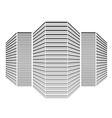 Multi storey building vector image vector image