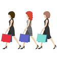 Women shoppers vector image