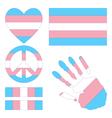 Transgender pride design elements vector image