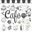 Coffee set of graphic elements and inscriptions vector image vector image