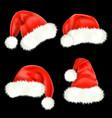 santa claus hats vector image vector image