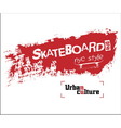 NYC skateboarding t-shirt vector image