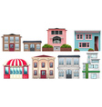 Different design of shops and houses vector image
