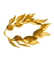 a gold laurel wreath award vector image