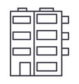 apartment building line icon sig vector image