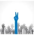 Creative victory hand vector image